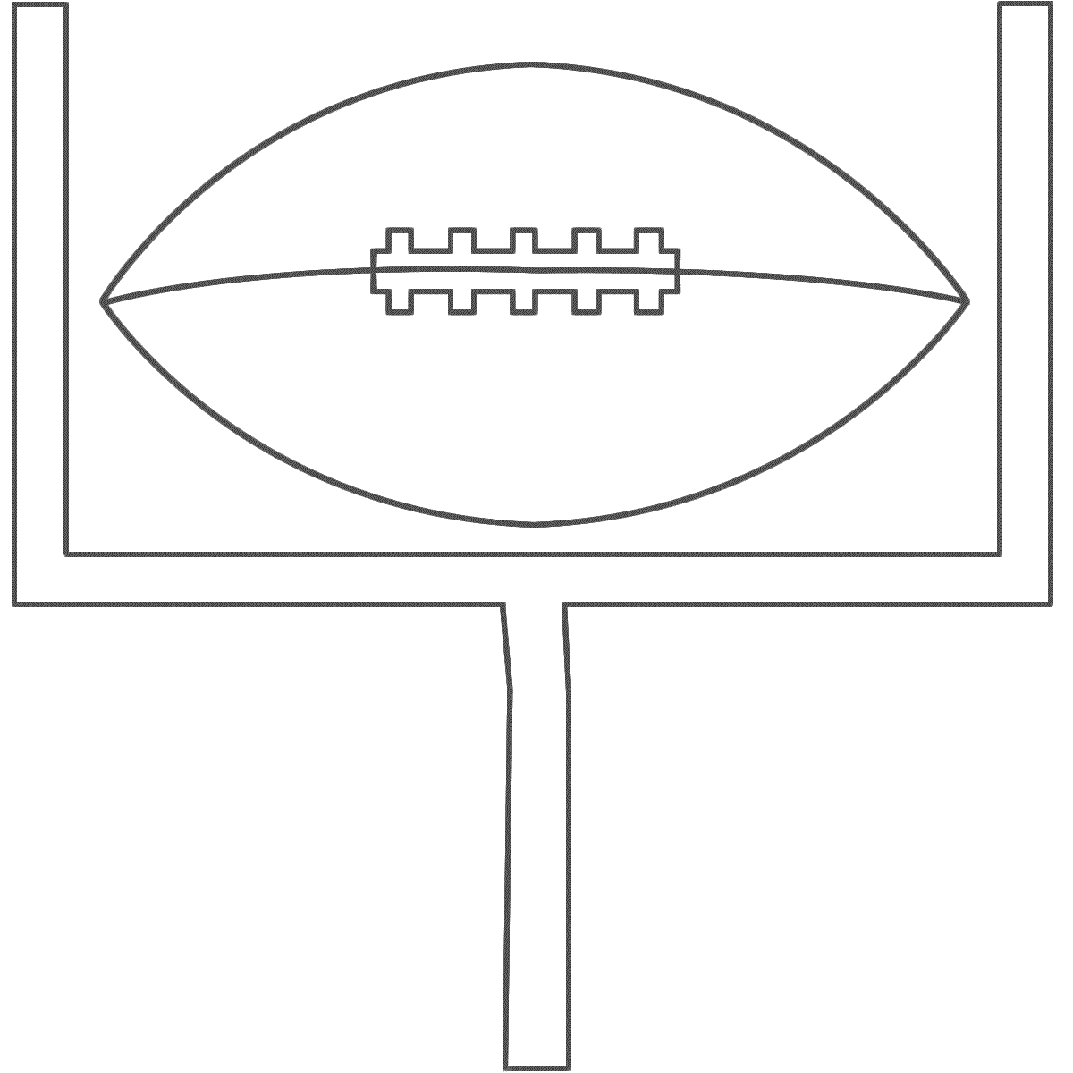 Football Pattern Template Football With A Goal Post