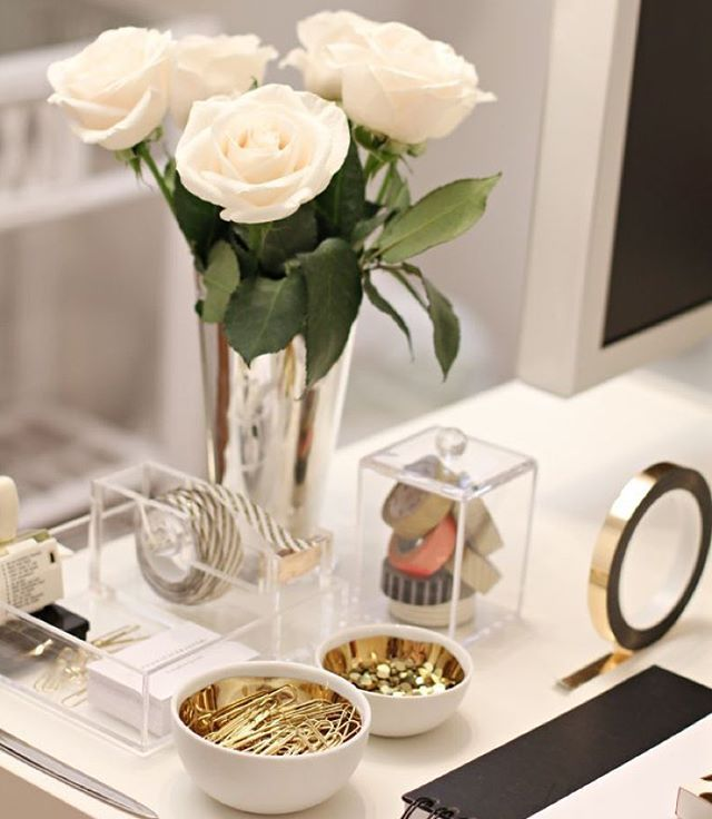 Rachel George Shoprachelgeorge Get The Desk Look Instagram Photo Websta Desk Decor Home Office Decor Home Office Space