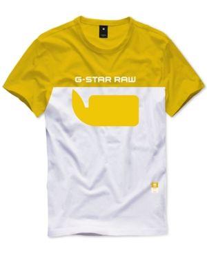 8704b454681 G-Star Raw Men s Colorblocked T-Shirt - Hudson Blue white M ...