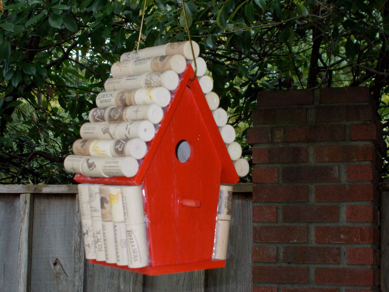 Items Similar To Wine Cork Bird House On Etsy Bird House Bird Bird Houses