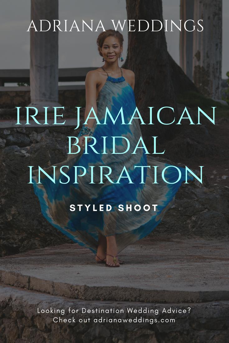 Irie jamaican bridal inspiration shoot with something blue wedding