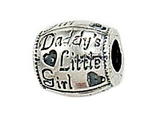 Zable Daddys Little Girl Pandora Compatible Bead Charm Want To