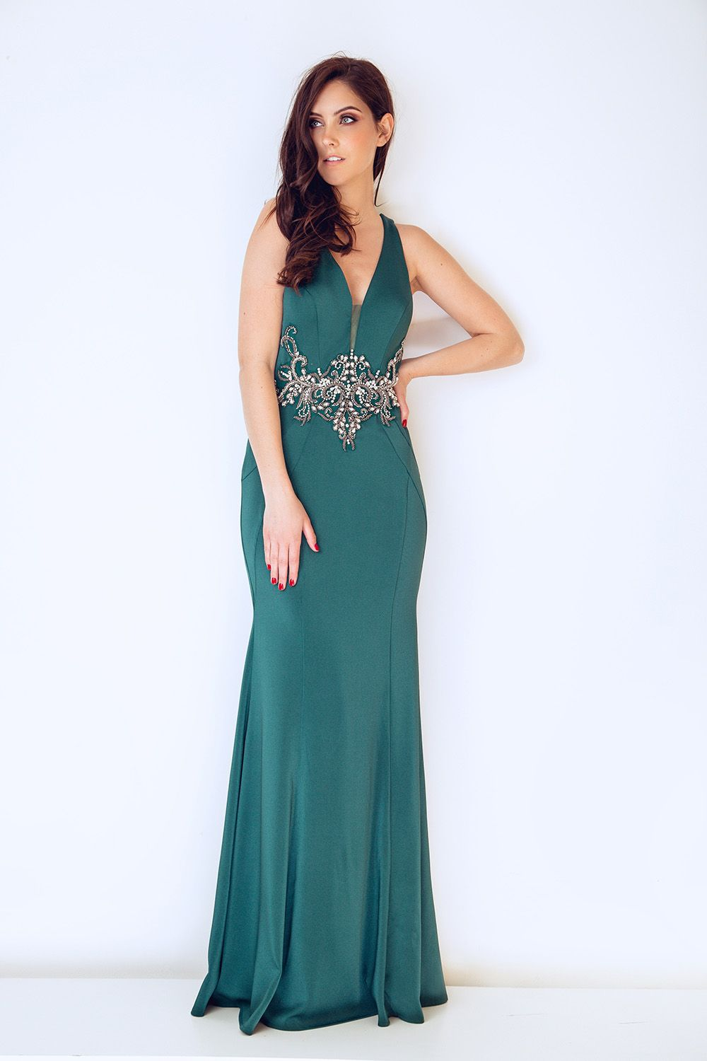 Dynasty London dress, teal green evening gown, evening dress, 2018 ...