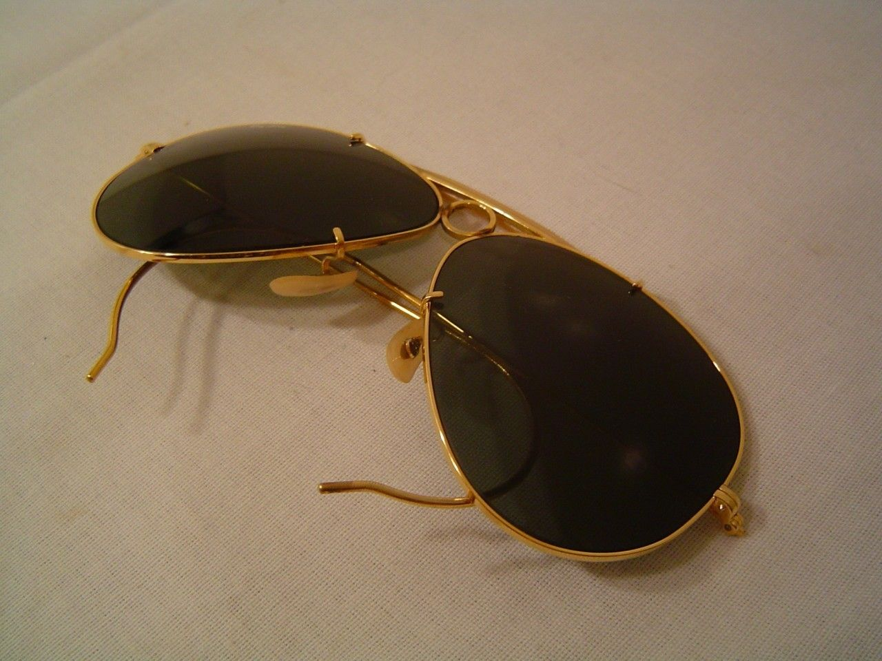 Details About Ray Ban B Amp L Aviator 58 14 Gold Vintage Wrap