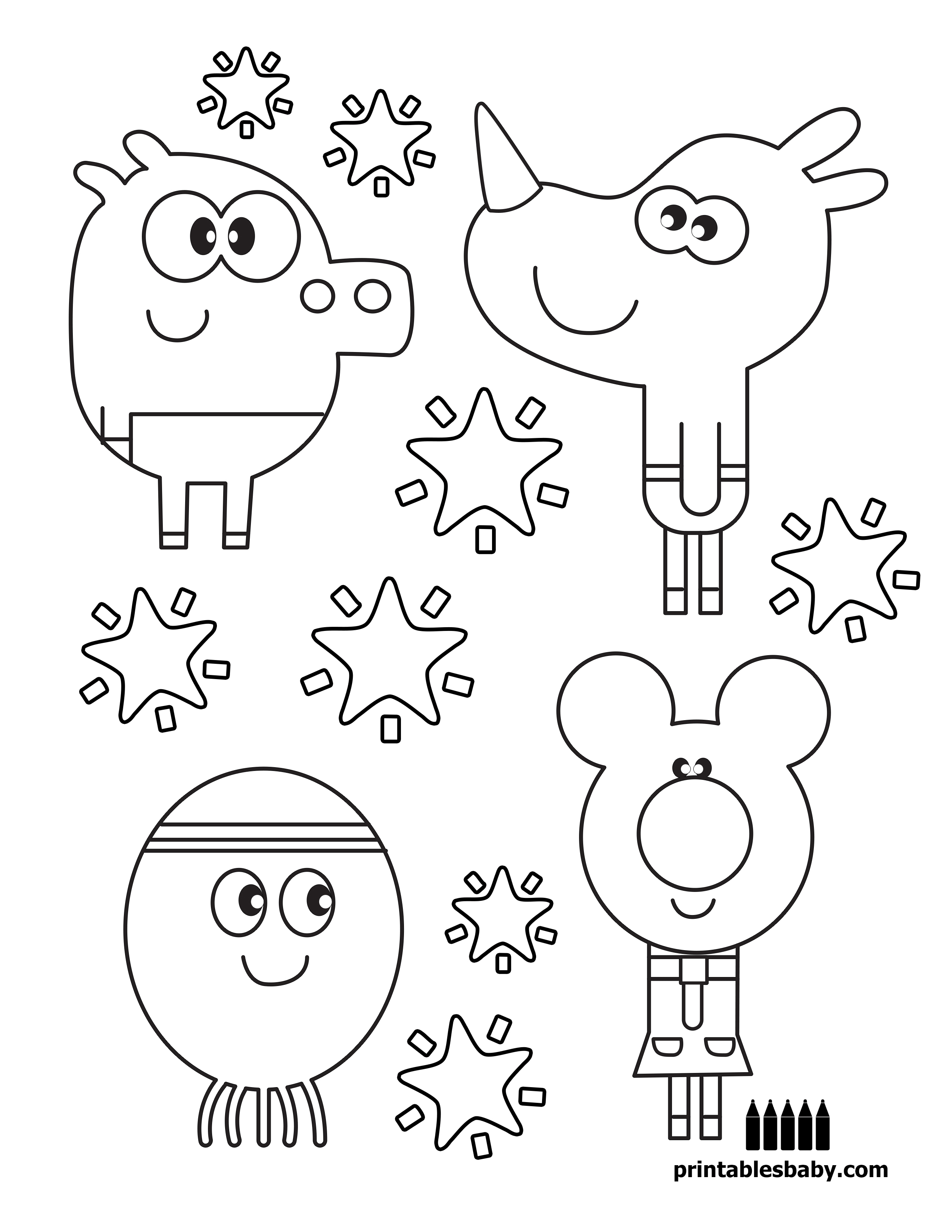 hey duggee printables baby free cartoon coloring pages