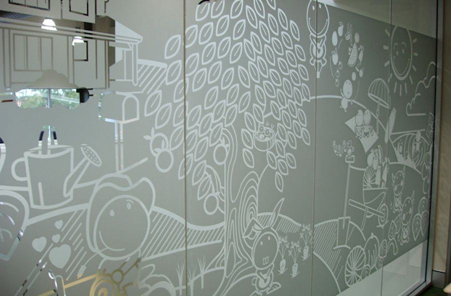 Use Etched Vinyl Window Graphics For Privacy Signarama Blog - Window decals for home privacy