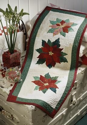 Poinsettia Table Runner Downloadable Quilt Project