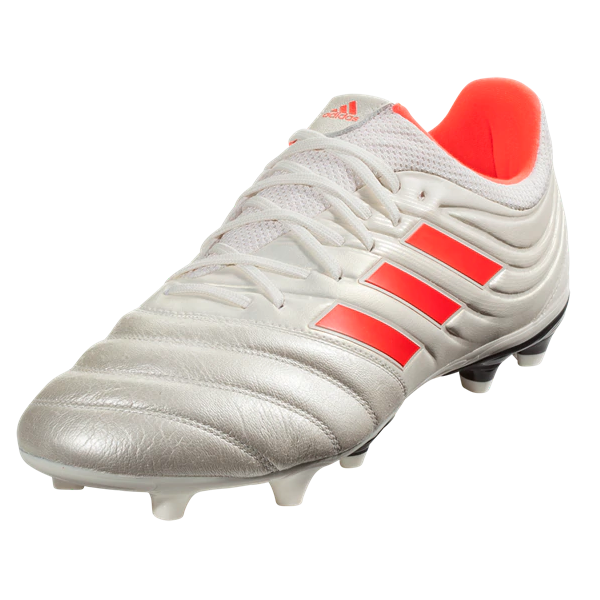 Adidas Copa 19 3 Fg Off White Solar Red Soccer Cleats Football Shoes Cleats