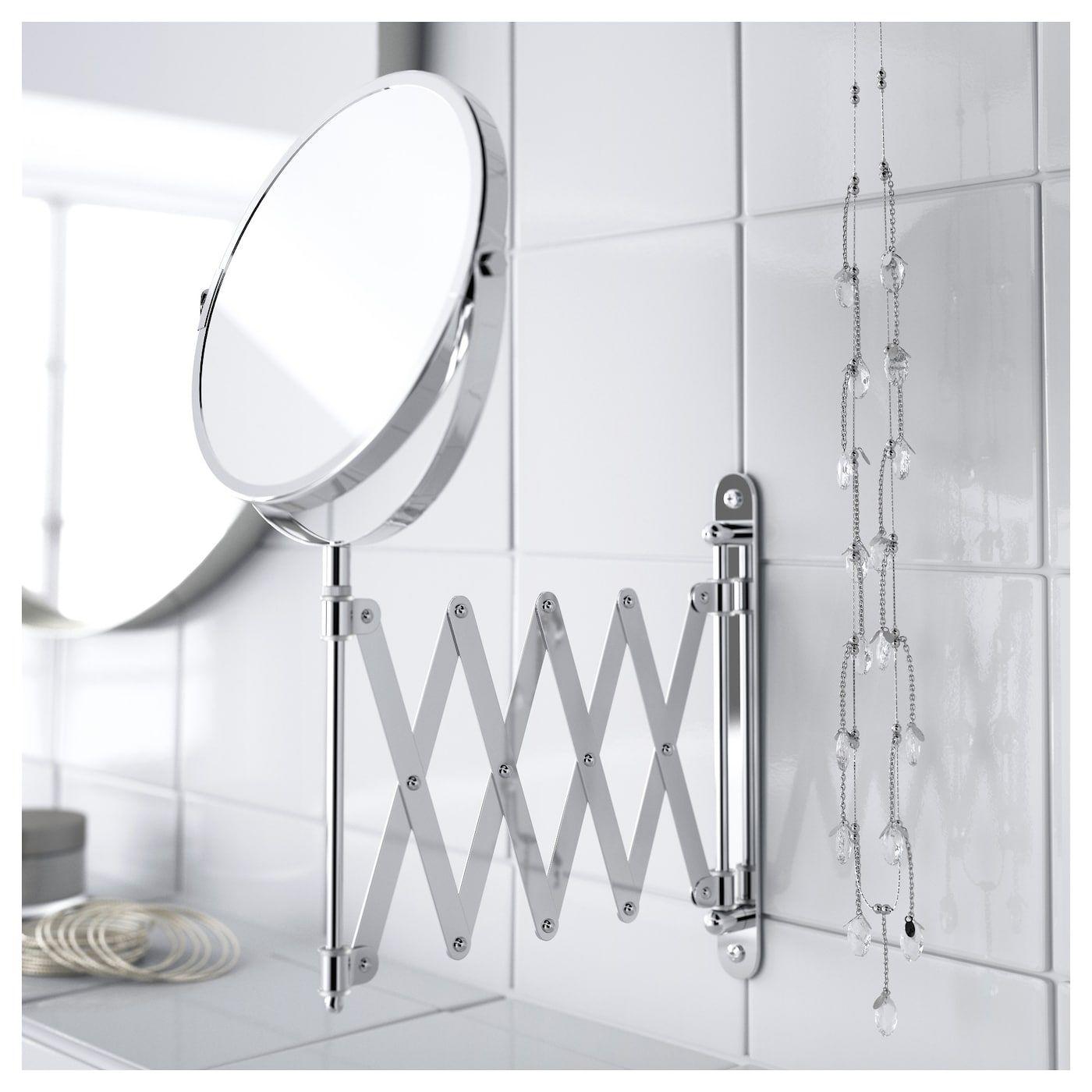 Frack Mirror Stainless Steel Magnifying Mirror Ikea Mirror
