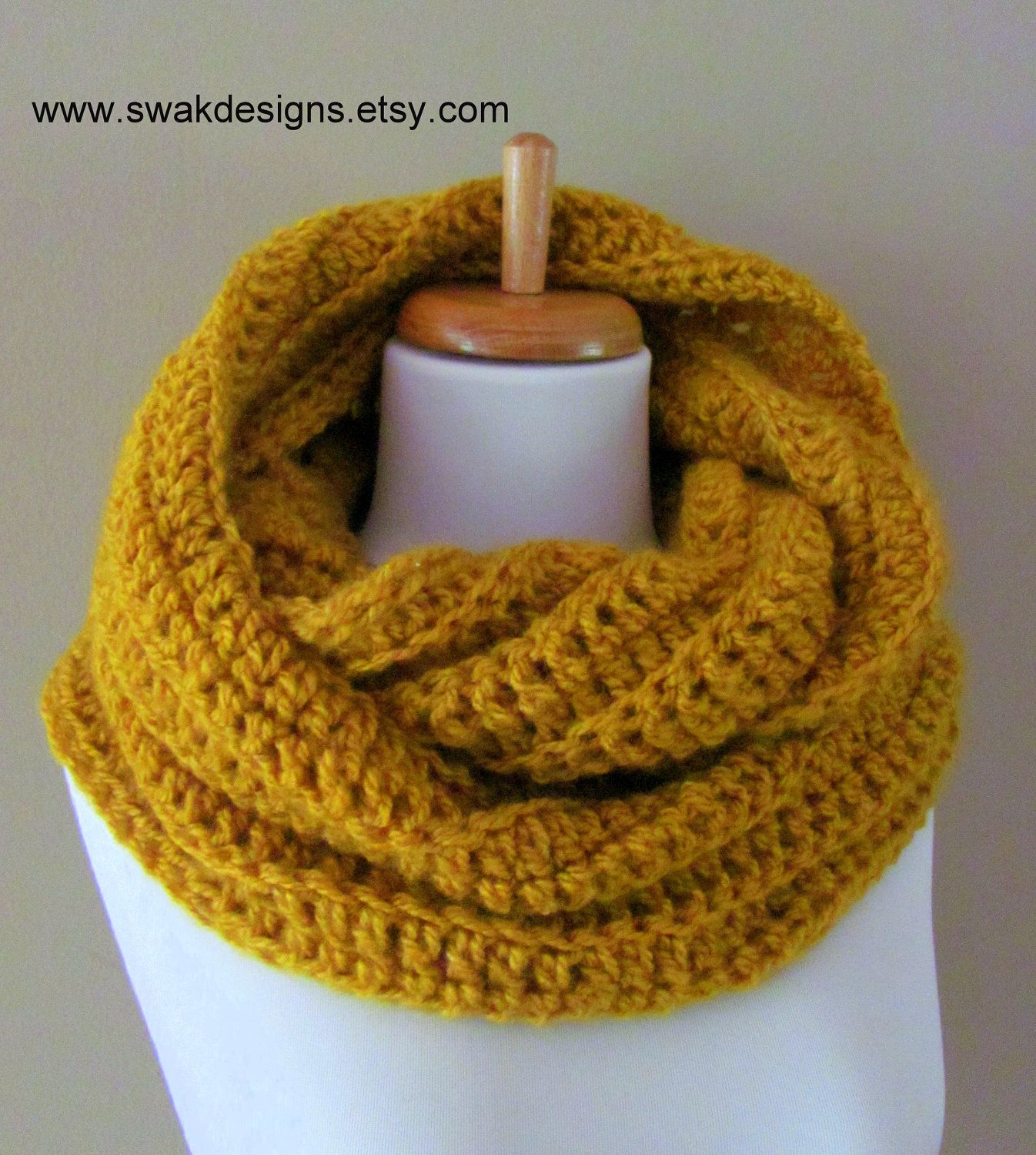 Oversized Eternity Scarf Burnt Gold or CHOOSE Your by SWAKCouture ...