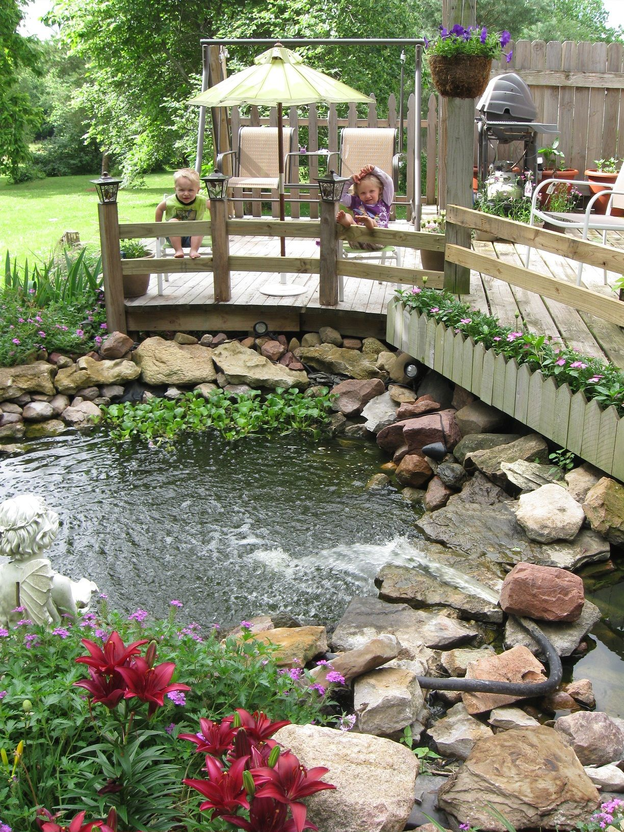 our oasis in back yard country living landscaping pinterest