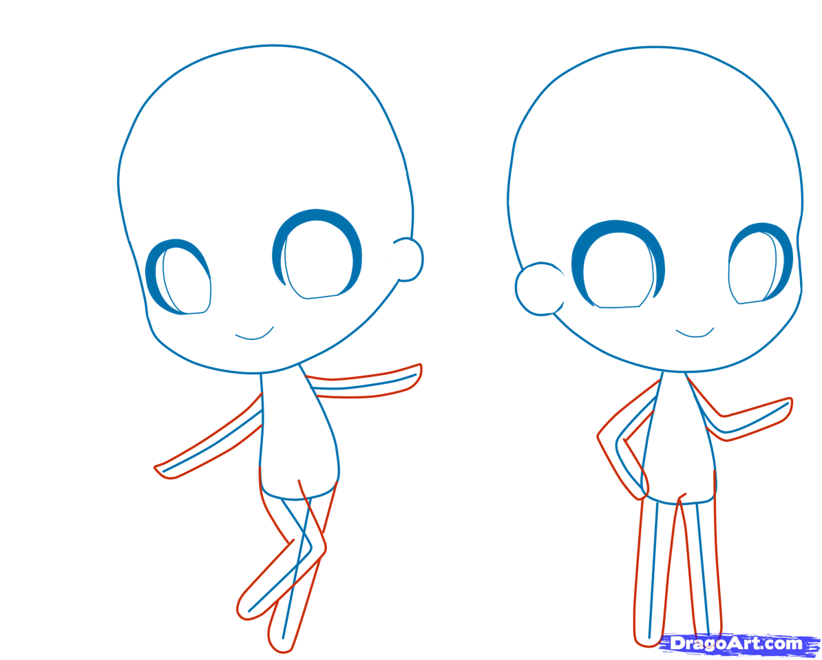 How To Draw A Chibi Person Step By Step Chibis Draw Chibi Drawings Chibi Drawings Chibi