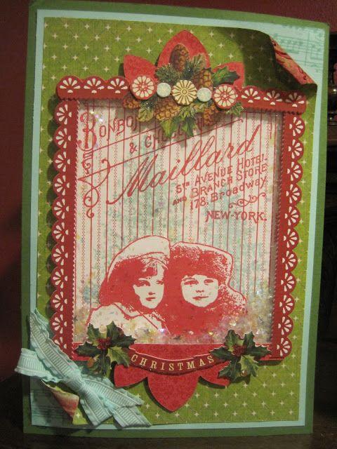 A Sparkly Christmas Shaker Card
