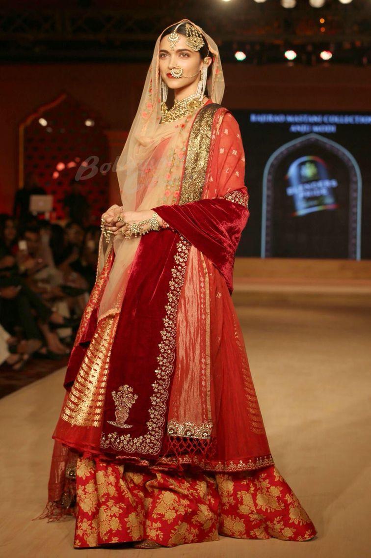 Deepika Padukone Anju Modi 2015   Bridal dupatta, India ...