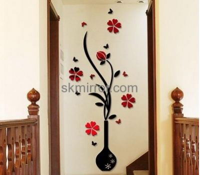 acrylic decorative mirror manufacturers custom design acrylic perspex mirror home wall decals ms 341 - Decorative Mirror Manufacturers