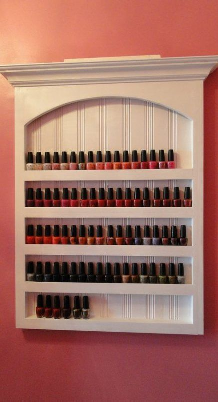 Makeup Organization Shelves Nail Polish 68 Ideas Makeup Bad Room Design Nail Polish Shelf