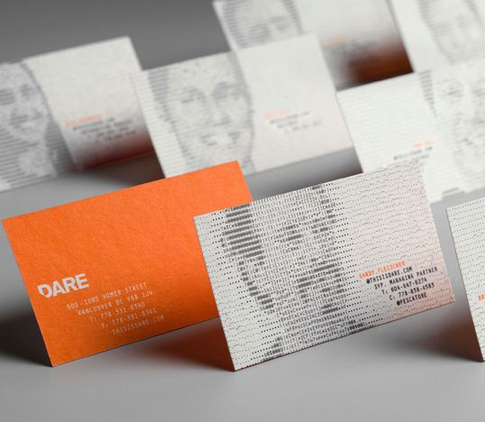 Biz cards inspiring business card designs pinterest business dare vancouver letterpress business cards designed with an online ascii image generator colourmoves