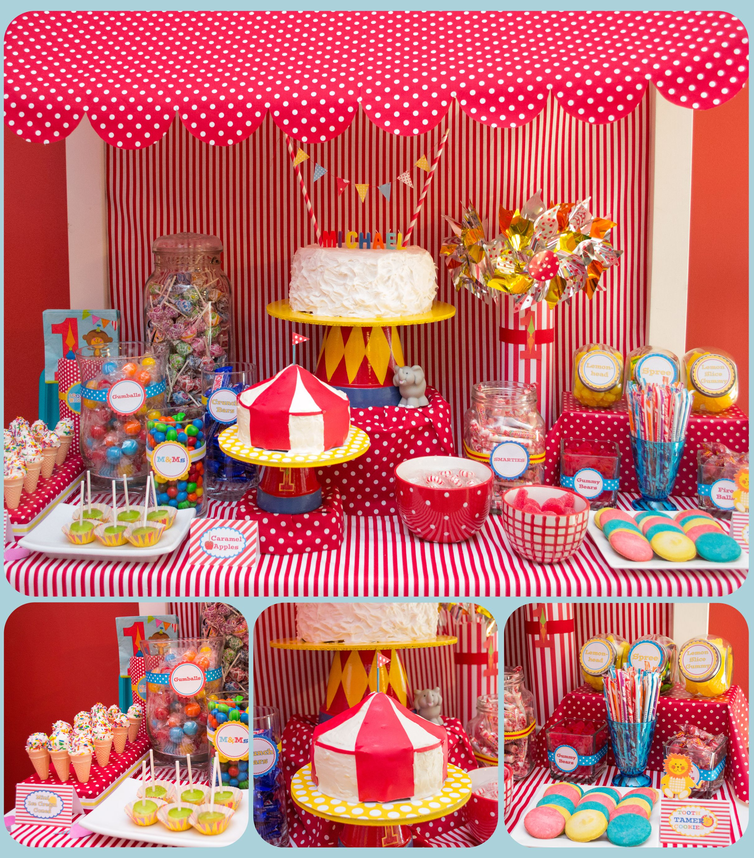 {Circus 1st Birthday} Sweets Treats Stand