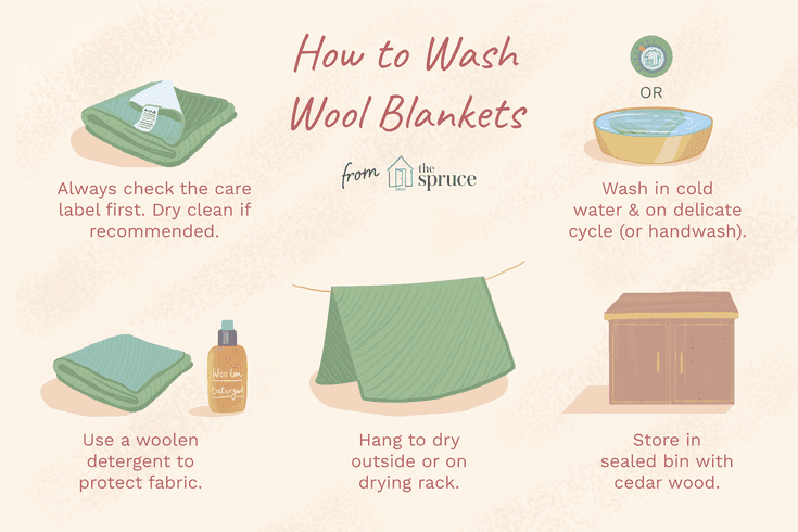 How To Wash Wool Blankets Wool Blanket Blanket Washing Wool Blanket