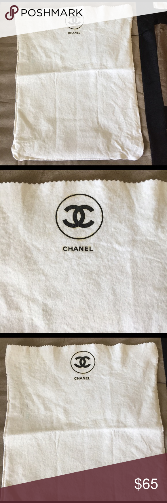 e731a2f82391 Authentic Large VINTAGE CHANEL dust bag Excellent condition. A few dirt  marks shown in photos CHANEL Bags Shoulder Bags