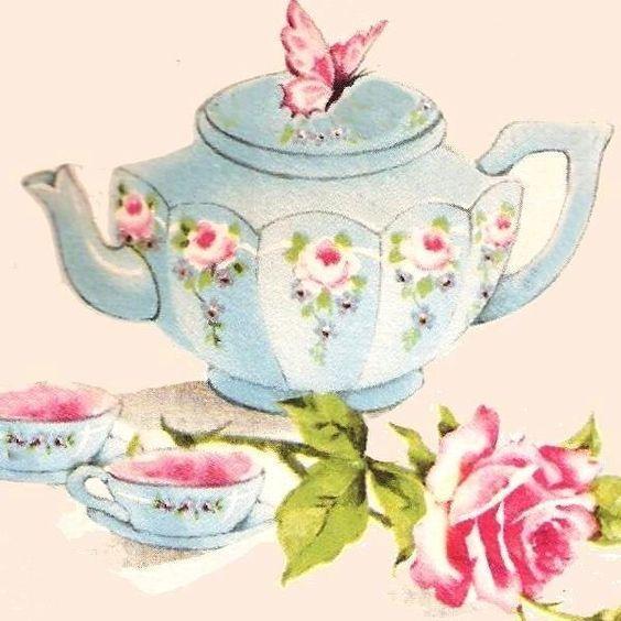 Resultado de imagen para dibujos de tazas y teteras for Tazas de te estilo vintage