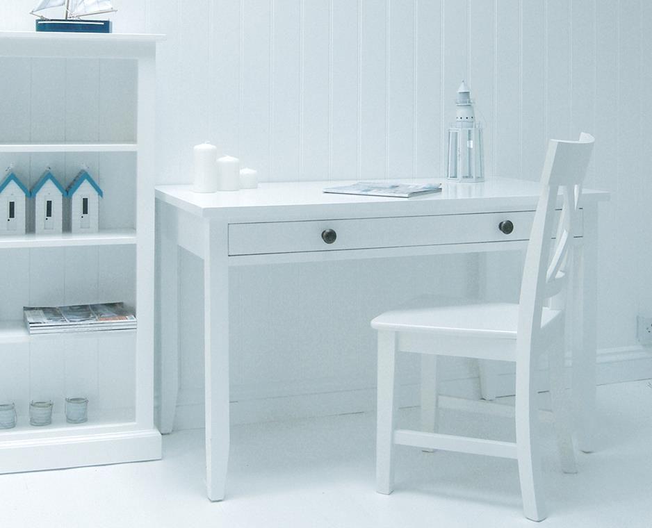 maine white desk - White Desk