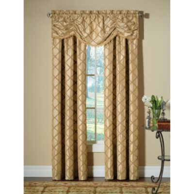 Curtains And Balances Used As Window Treatments In Dining Room
