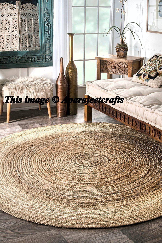 Bohemian Braided Round 3 Feet Rag Rug Living Room Decor Jute Rug Area Rug Carpet