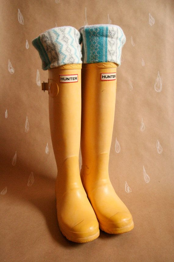 Boot Socks SLUGS Fleece Rain Boot Liners perfect for yellow