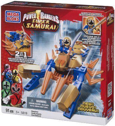 Mega Bloks Power Rangers Samurai Claw Battlezord vs Mooger