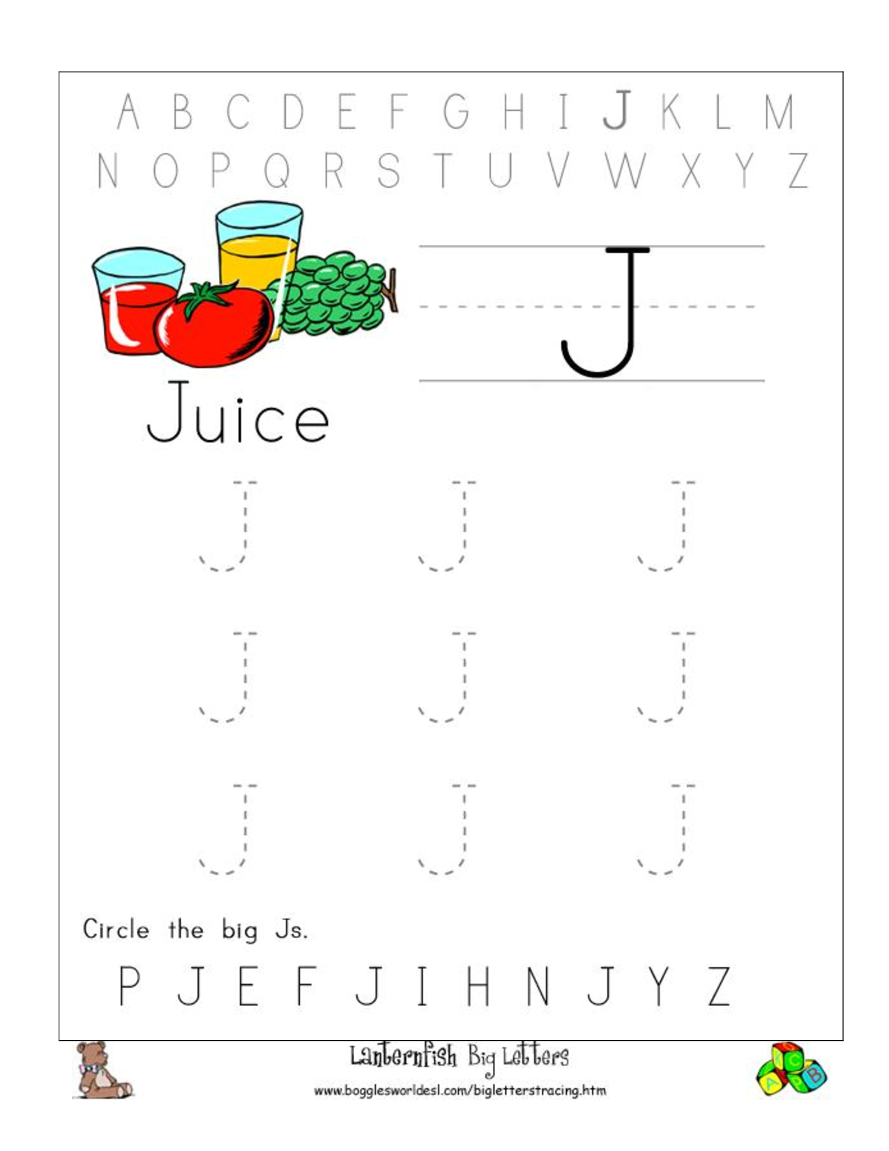Alphabet Worksheets for Preschoolers | worksheets preschool ...