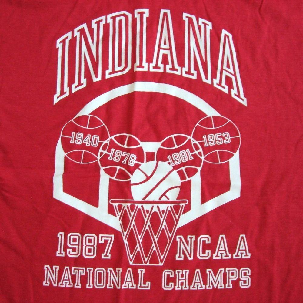 True Vintage Indiana University Hoosiers 1987 NCAA TShirt