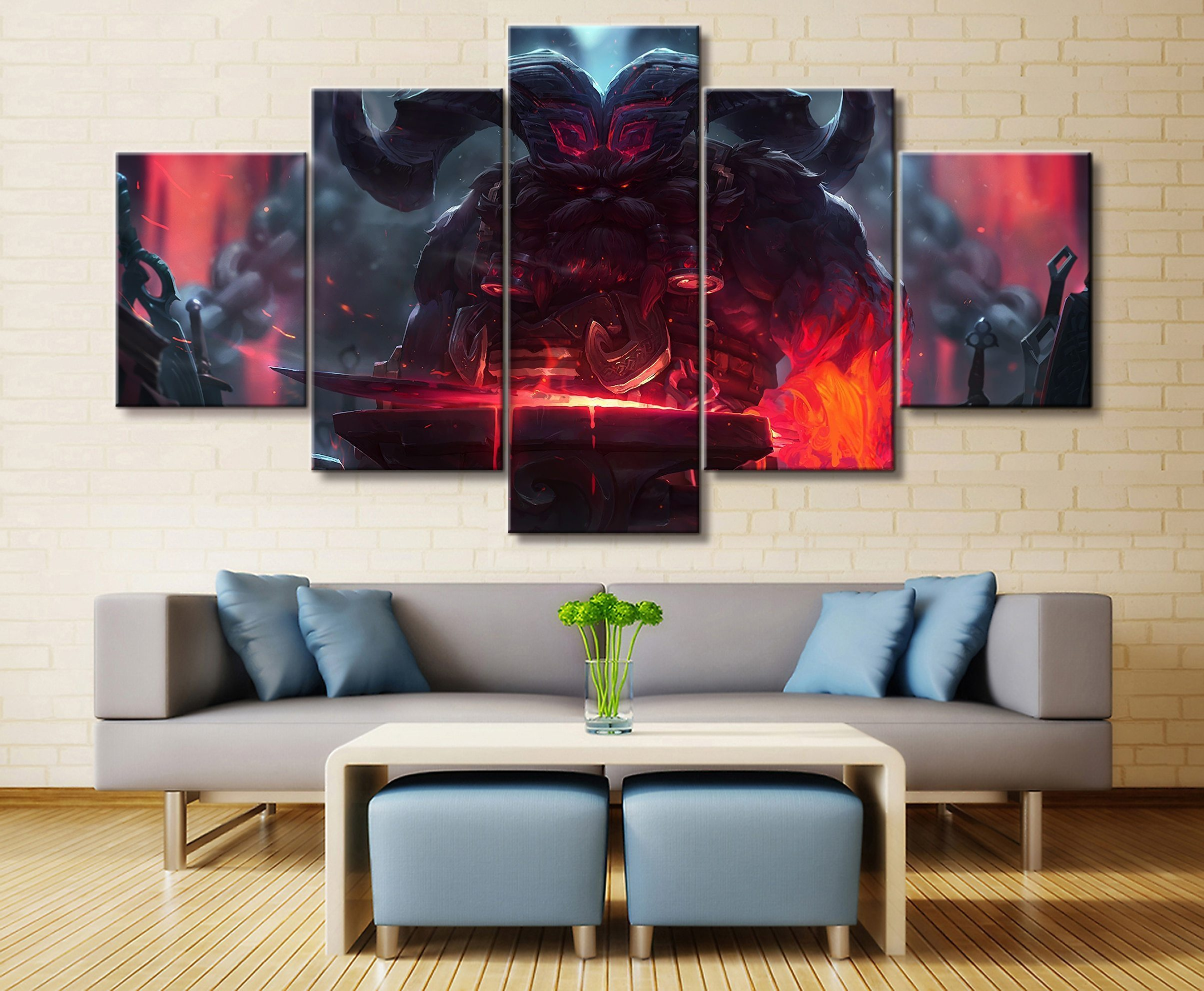Pin By Alex Mood On Ornn In 2020 Large Wall Art Canvas Wall Art League Of Legends