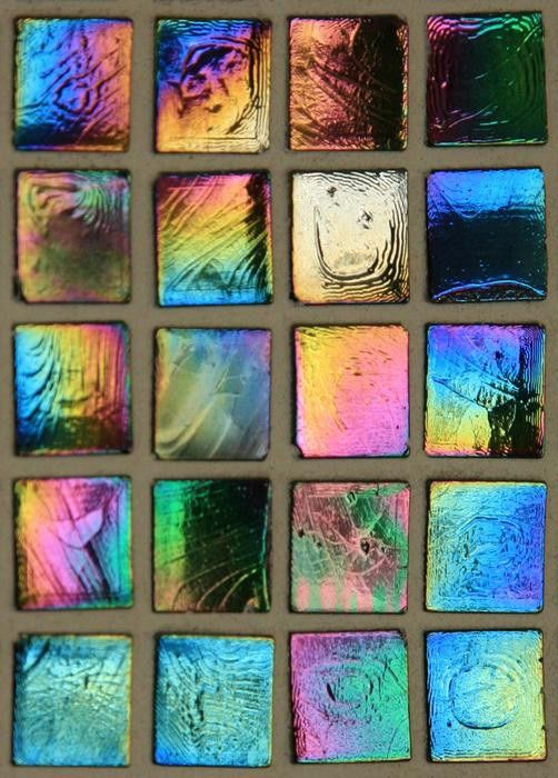 Iridescent Glass Blocks Iridescent Glass Tiles Tile Wallpaper