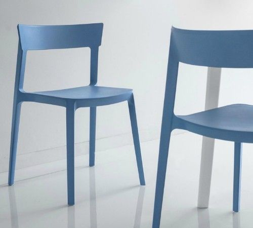 Calligaris Skin Chairs - Sky Blue | Keittiöitä | Pinterest | Free uk ...