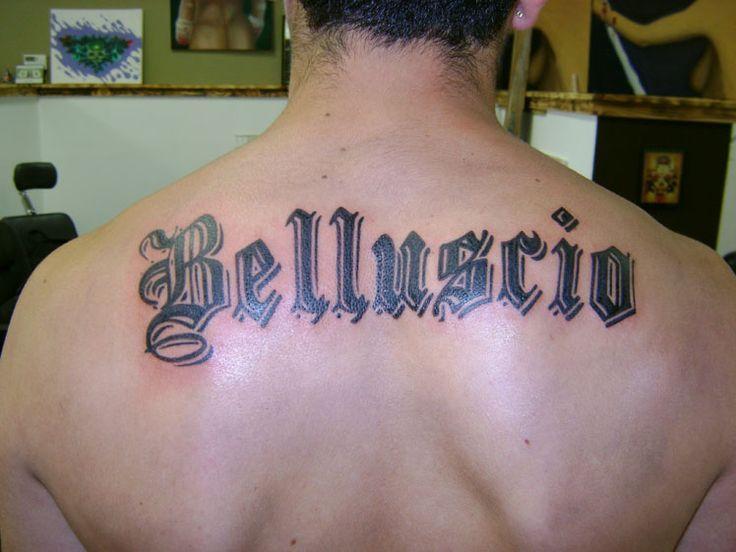 Last Name Across Back Tattoo Ideas Pinterest Last Name Tattoos Name Tattoos On Back Name Tattoo Designs