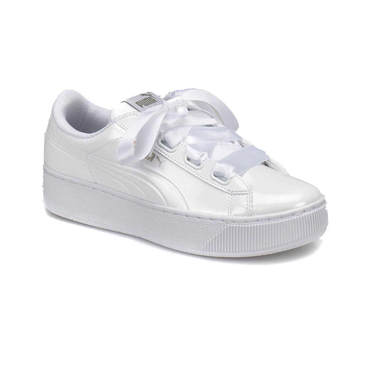 Puma - Puma PUMA VIKKY RIBBON P Beyaz Kadın Deri Sneaker - FLO Ayakkabı