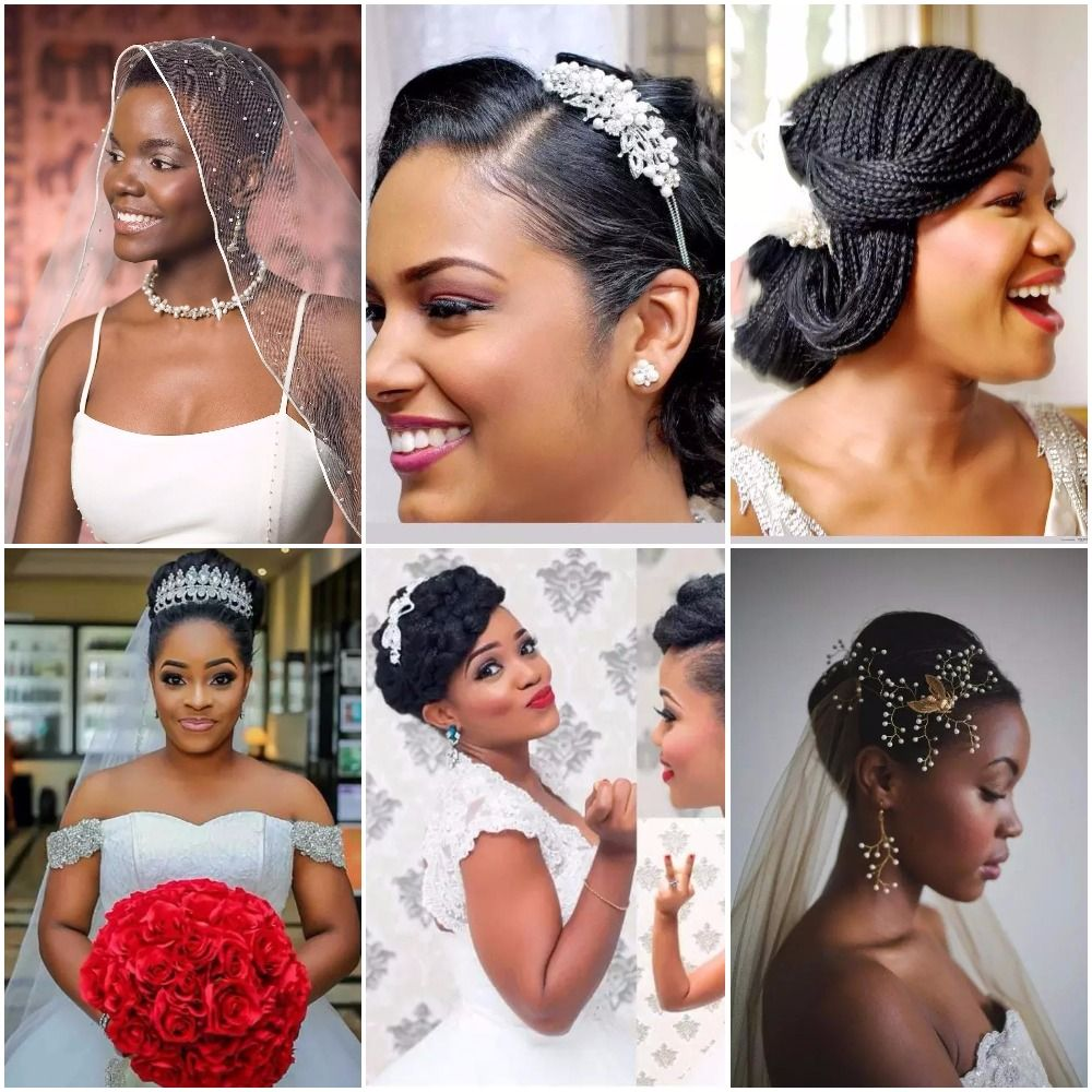 What Do You Know About Nigerian Bridal Hairstyles Here You Will Learn How To Make Bridal Hairstyles For Round Fac Bridal Hair Bridal Hair Veil Nigerian Brides