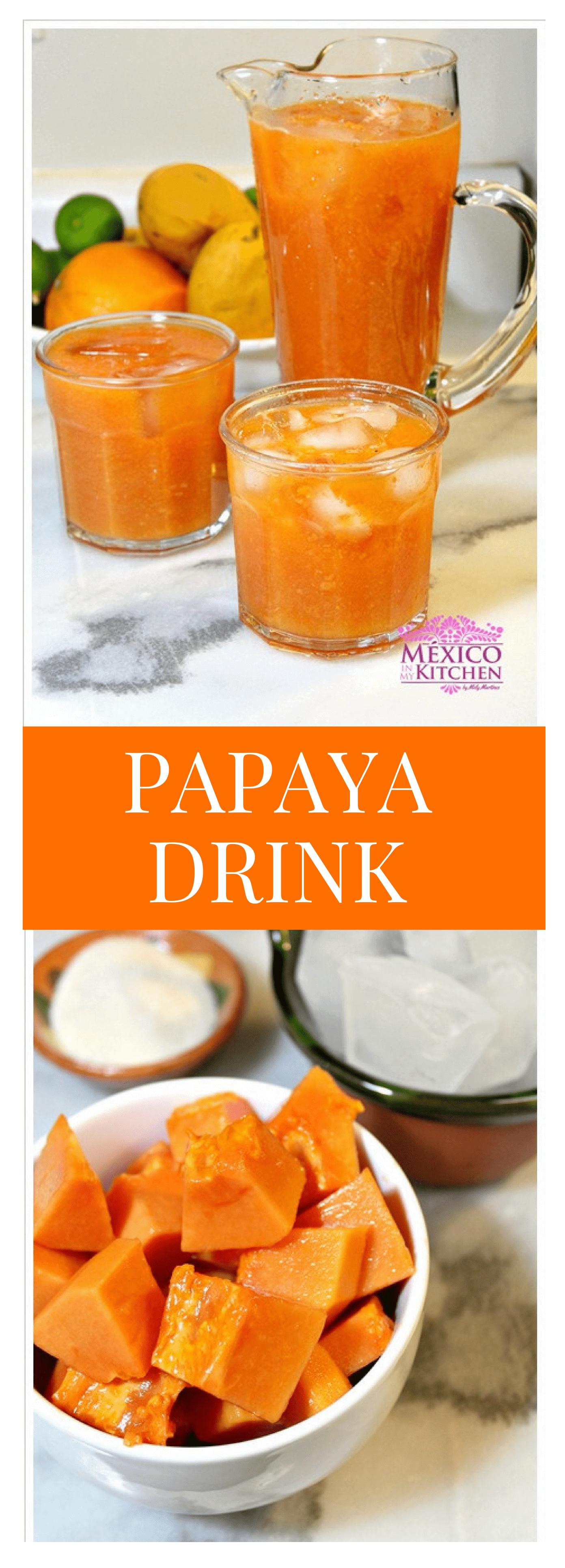 Papaya Drink Recipe Papaya drink, Papaya recipes, Agua