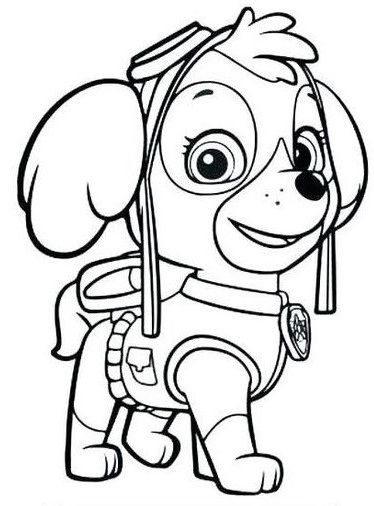 Molde Da Cachorrinha Skye Em 2020 Patrulha Canina Para Colorir