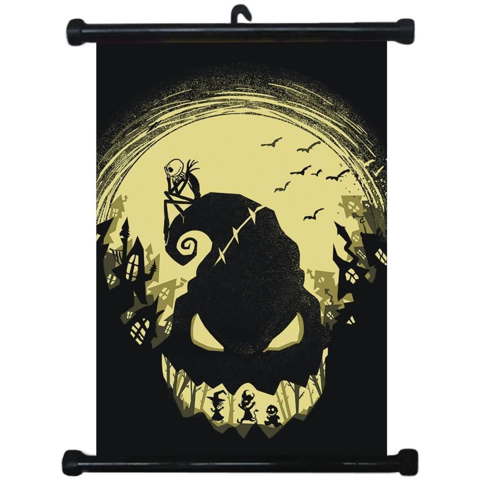 Sp212383 The Nightmare Before Christmas Home Décor Wall Scroll ...