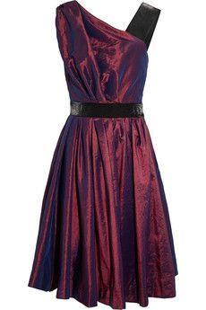 Vivienne Westwood Anglomania Star taffeta and satin dress   NET-A-PORTER