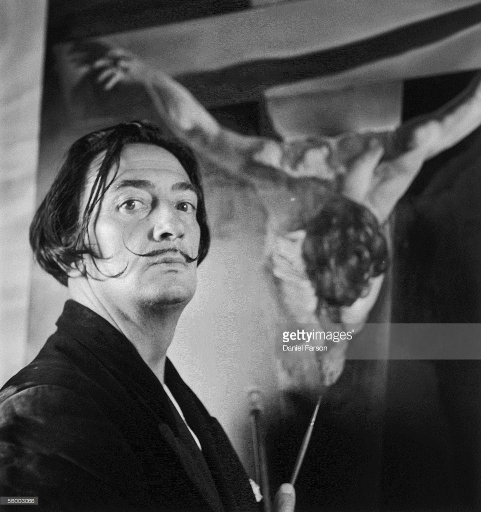 Spanish artist Salvador Dali, , one of the principal