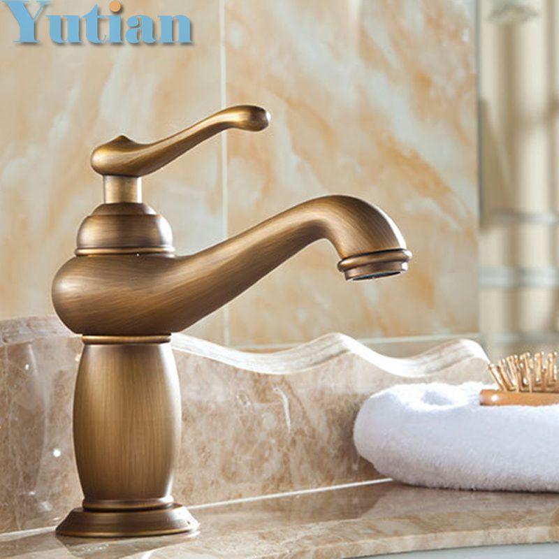 Hot sale Bathroom Basin Faucet Antique bronze Brass Mixer Tap with ...