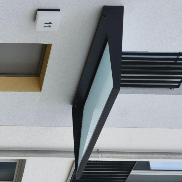 Corbus glasdach mit anthrazit farbenem rahmen und for Vordach kaufen