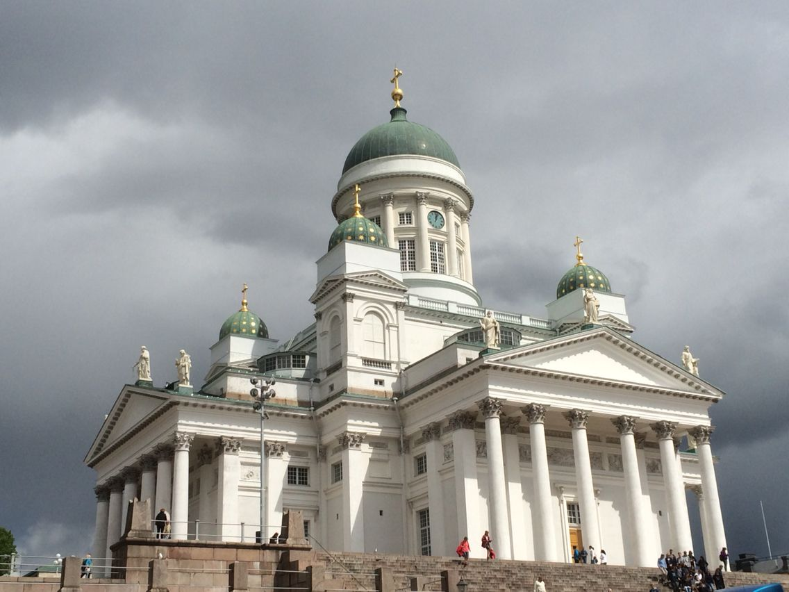 Helsinki Cathedral, a Lutheran cathedral built in 1852, is located at Helsinki Senate Square and is the city's most recognized landmark.  #travel #finland #scandinavia #europe #helsinki #suomi #architecture #cathedral #nordic