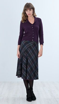 Scottish Tweed Bias Cut Skirt