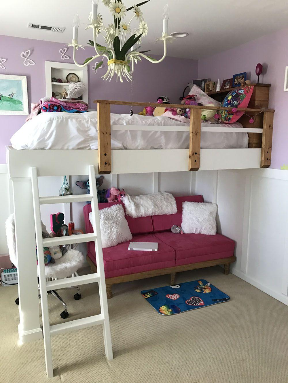 Ana White Kids Loft Bed Diy Projects Diy Loft Bed Kids Loft Beds Loft Beds For Teens