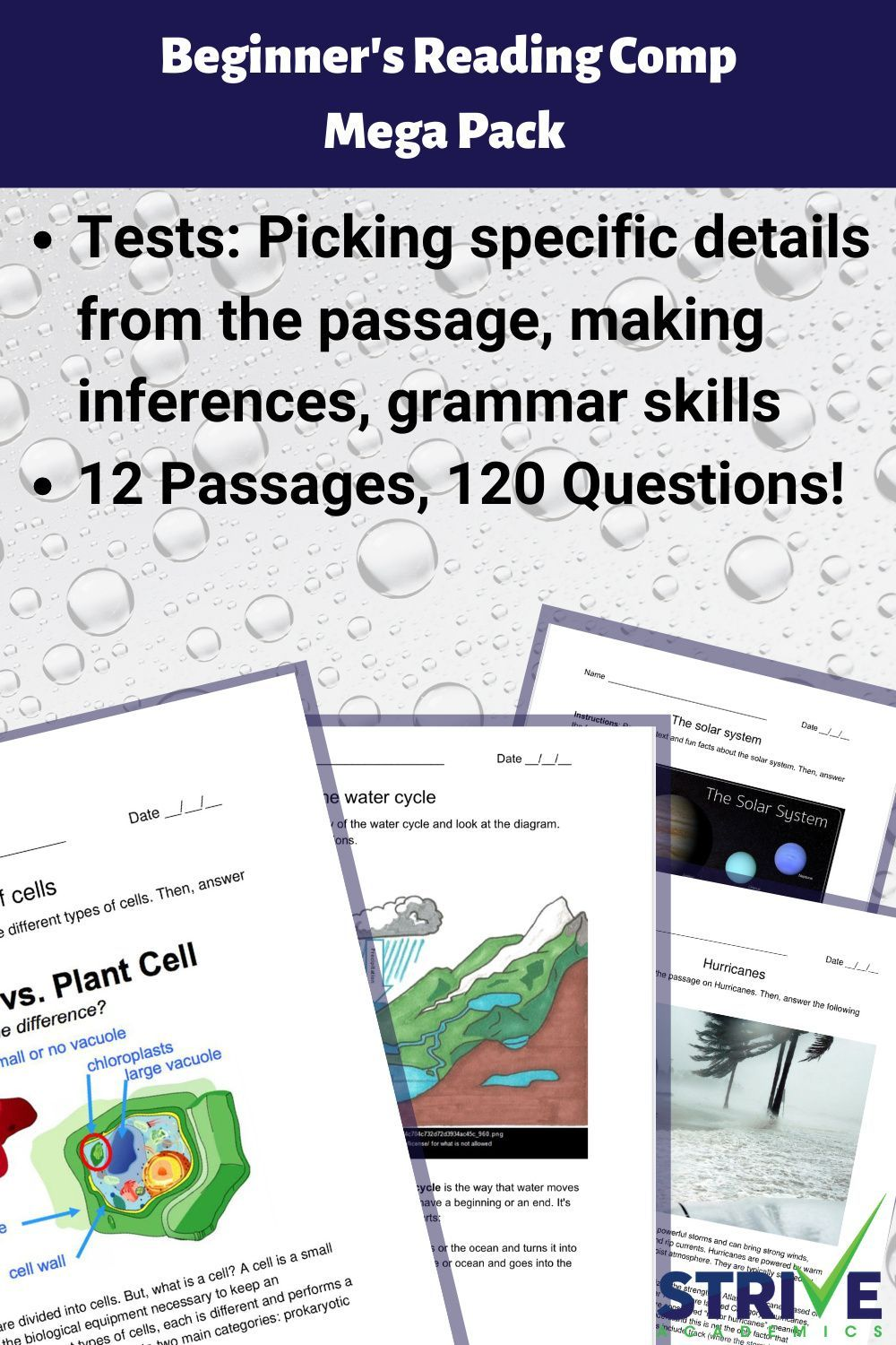 Beginner S Reading Comp Mega Pack In 2021 Reading For Beginners High Interest Reading Passages Reading Comprehension Skills [ 1500 x 1000 Pixel ]