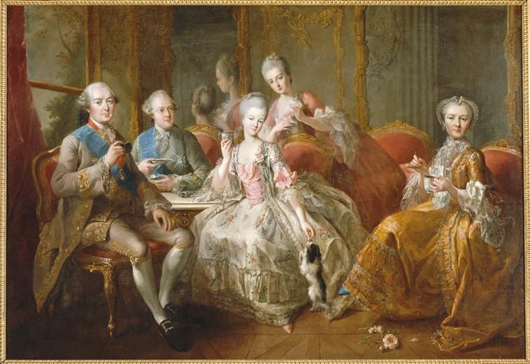 1768 La Famille du duc de Penthievre by Jean-Baptiste Charpentier (Versailles) Photo - Gerard Blot | Grand Ladies | gogm